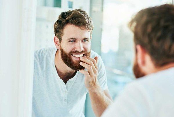 Man at the mirror