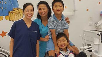 Children first dental visit at About Smiles Dental Centres